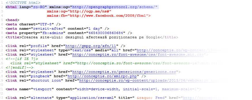 Codul din spatele site-ului trebuie sa fie valid si modern