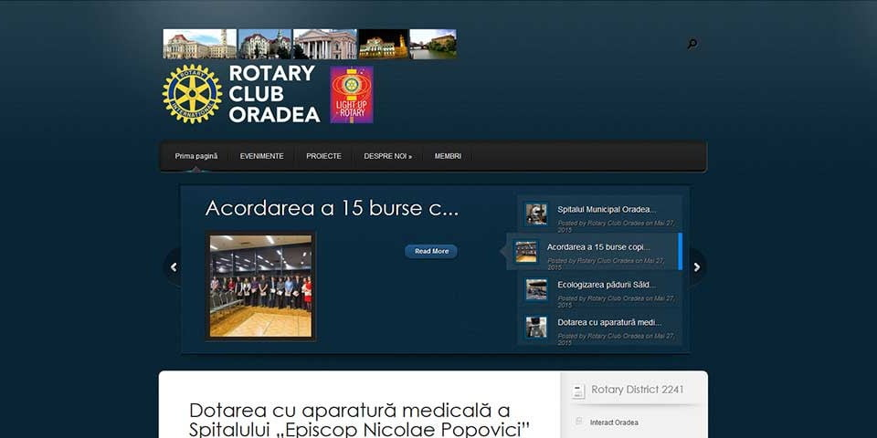 Creare site web & optimizare site: portofoliu - webdesign (rotaryoradea)