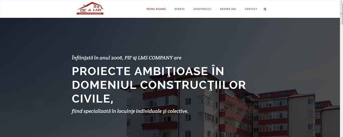 Creare site web & optimizare site: portofoliu - webdesign (piflms)