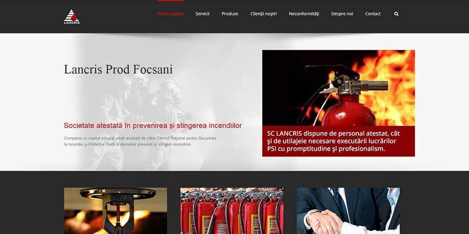 Creare site web & optimizare site: portofoliu - webdesign (lancris)