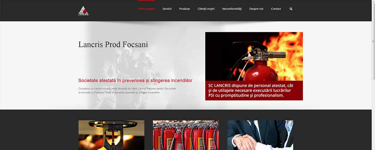 Creare site web & optimizare site: portofoliu - webdesign (lancris)