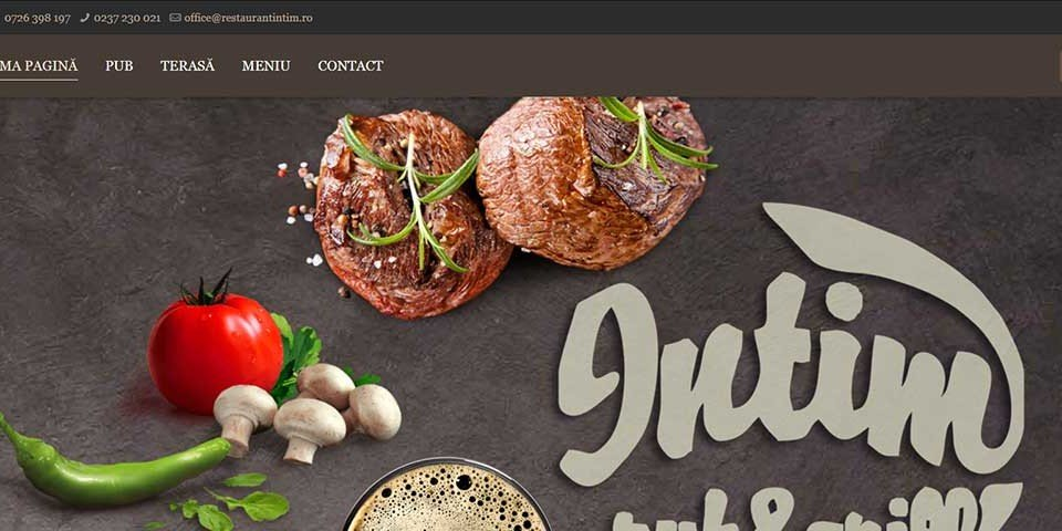 Creare site web & optimizare site: portofoliu - webdesign (restaurantintim)