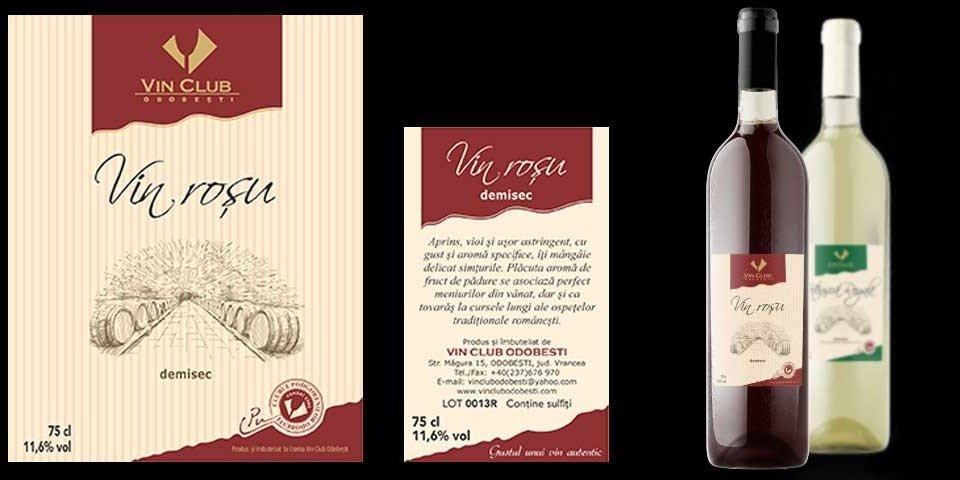 Creare site web & optimizare site: portofoliu - graphic design (design de etichete: Vin CLub Odobeşti)