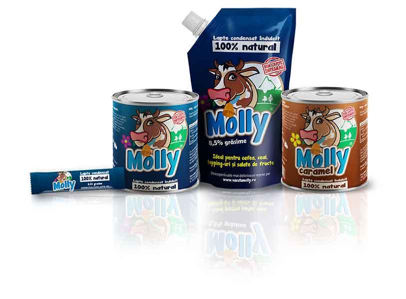 Produse MOLLY®: conserve, PVC pack, stick